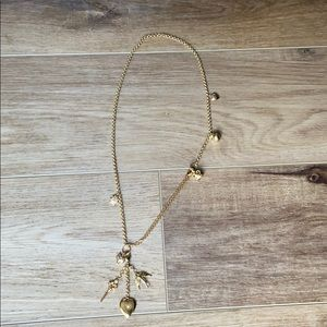 Stella & Dot gold charm necklace